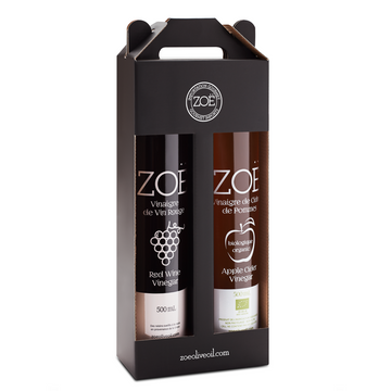 Zöe Wine Vinegar and Apple Cider Vinegar Duo