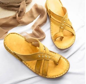 Orthopedic sandals with soft soles and corrective functions
