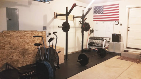 Profile dip station storage garage gym in home gym