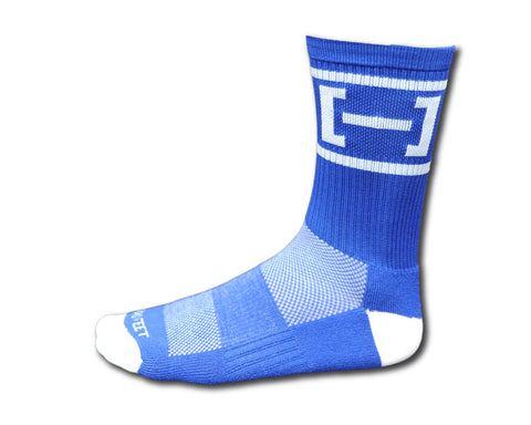 Pure Strength Bracket Socks- Blue