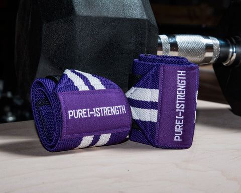 Pure Strength Wrist Wraps- Purple