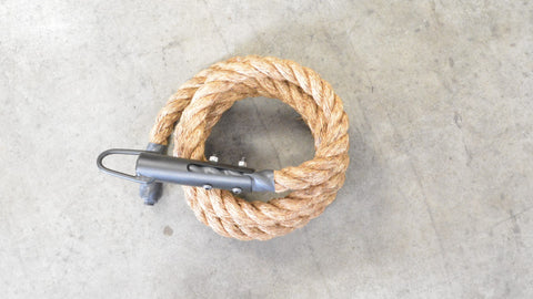 Climbing Rope with Clamp- Manilla