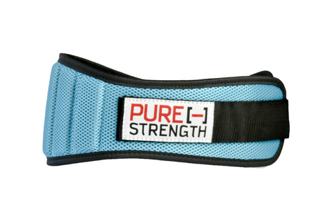 "Weight Lifting Belt: ""Bright Turquoise"""