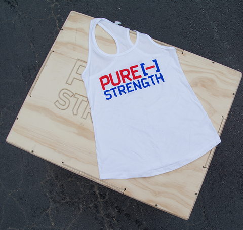 Pure Strength Flag Tank-White