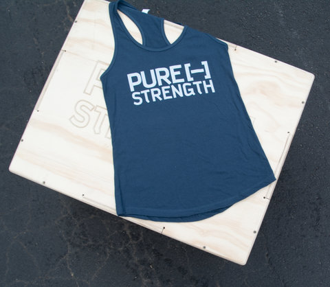 Pure Strength Flag Tank- Indigo