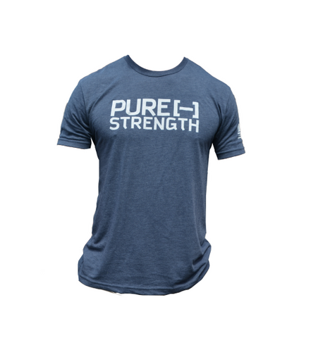 Pure Strength Flag Tee- Navy