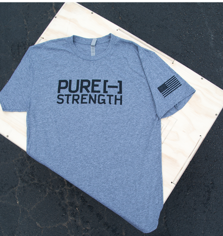 Pure Strength Flag Tee- Gray