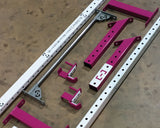 Slim Gym- White & Magenta