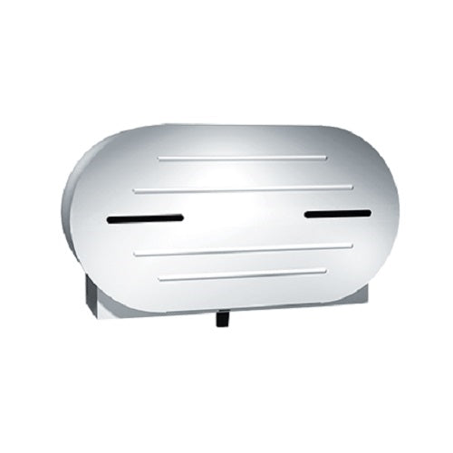 "ASI 0040 | American Specialties Toilet Tissue Dispenser, Twin 9"" Jumbo Roll, Stainless Steel"