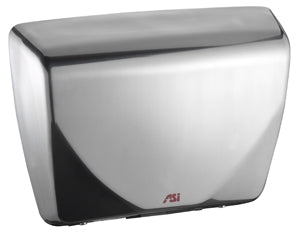 ASI 0185-93 | American Specialties Roval Satin Stainless Steel Hand Dryer, Steel Cover, 100-240 Volt