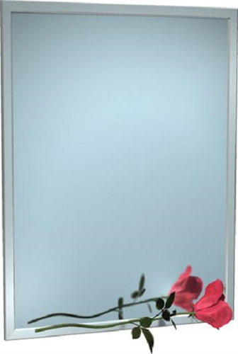 "ASI 0600-1636 | American Specialties 16"" x 36"" Angle Frame Plate Glass Mirror"