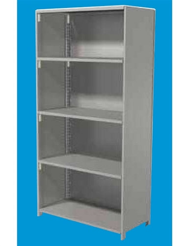 "ASI Storage Solutions 48"" x 24"" x 87"" Closed Design High Performance Shelving"