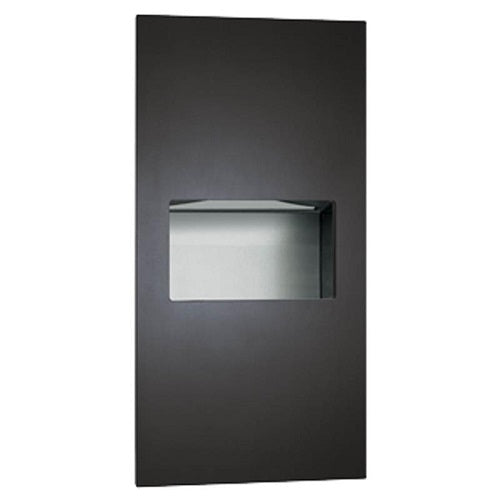 ASI 64623-41 | American Specialties Piatto Paper Towel Dispenser and Waste Receptacle, Matte Black, Recessed
