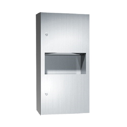 ASI 64623-9 | American Specialties Paper Towel Dispenser and Waste Receptacle, Surface Mounted