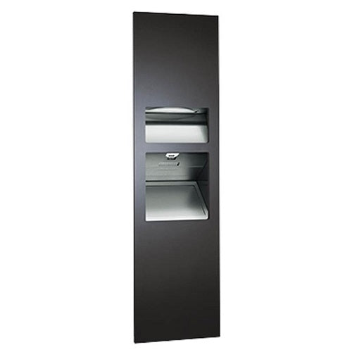 ASI 64672-1-41 | American Specialties Piatto Paper Towel Dispenser with Hand Dryer and Waste Receptacle, Matte Black, 110-120V