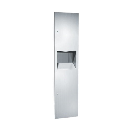 ASI 64676-2 | American Specialties Paper Towel Dispenser and Waste Receptacle, Semi-Recessed