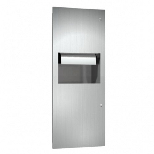 ASI 64696A | American Specialties Automatic Roll Paper Towel Dispenser and Waste Receptacle, Recessed