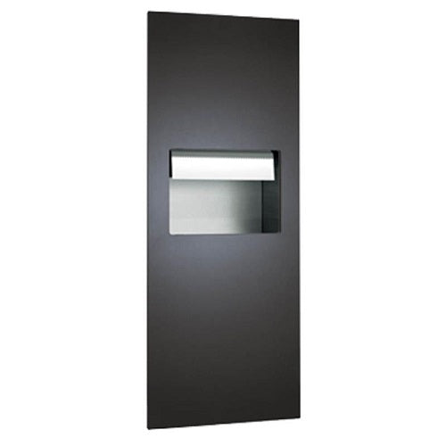 ASI 64696A-41 | American Specialties Piatto Automatic Roll Paper Towel Dispenser and Waste Receptacle, Matte Black, Battery Powered
