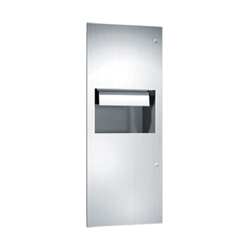 ASI 64696AC | American Specialties Automatic Roll Paper Towel Dispenser and Waste Receptacle, Recessed