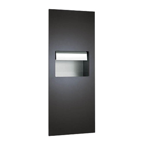 ASI 64696AC-41 | American Specialties Piatto Automatic Roll Paper Towel Dispenser and Waste Receptacle, Matte Black, AC Powered