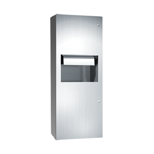 ASI 64696AC-9 | American Specialties Automatic Roll Paper Towel Dispenser and Waste Receptacle, Surface Mounted