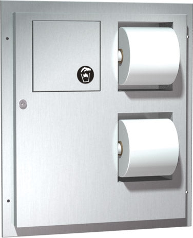 ASI 04813 | American Specialties Toilet Tissue Dispenser & Napkin Disposal, Dual Access
