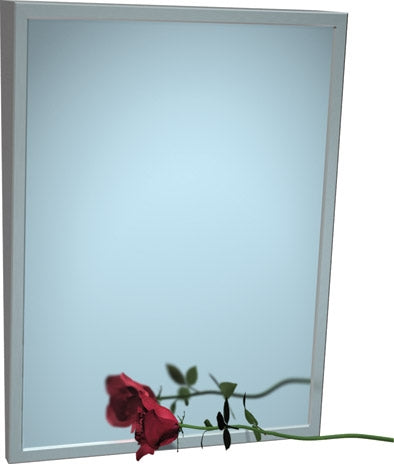 "ASI 0535-1824 | American Specialties 18"" x 24"" Fixed Tilt Plate Glass Mirror"