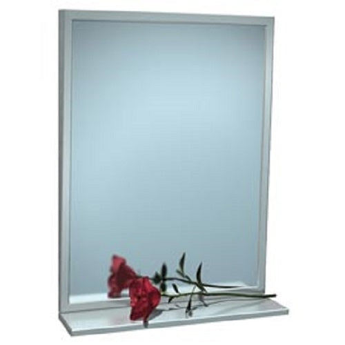 "ASI 0537-1630 | American Specialties 16"" x 30"" Fixed Tilt Mirror With Shelf"