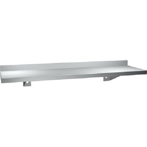 "ASI 0694-16 | American Specialties 5"" x 16"" Stainless Steel Shelf w-Backsplash"