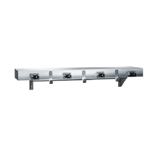 "ASI 1315-4 | American Specialties 36"" Utility Shelf with Drying Rod, Mop Holders and Rag Hooks"