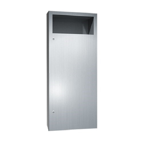 ASI 6474-2 | American Specialties Waste Receptacle, Semi-Recessed