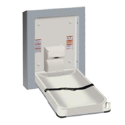 American Specialties ASI 9017-9 Surface Mounted Vertical Stainless Steel Baby Changing Station