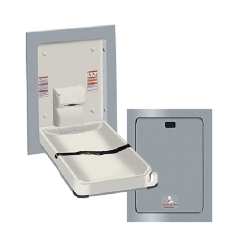 Ameican Specialties ASI 9017 Recessed Vertical Stainless Steel Baby Changing Station