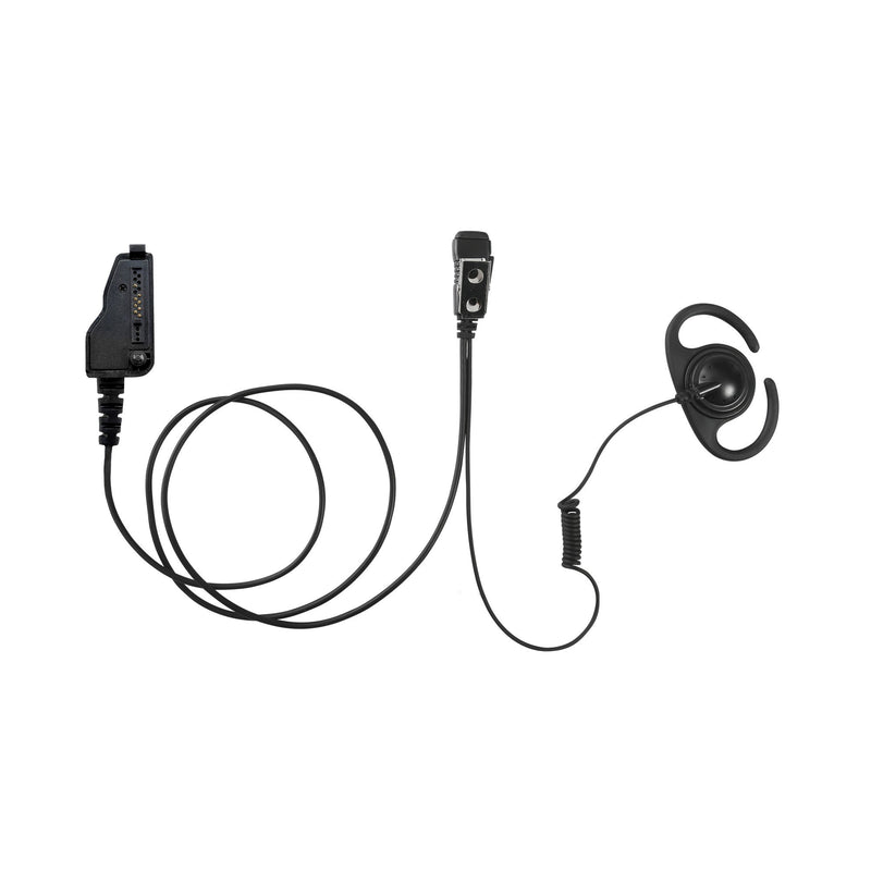 MAXTOP AEH4000-K3 Split D-Ring Earpiece for Kenwood NX-3200 NX-5200