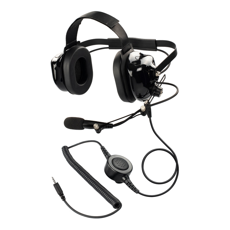 Maxtop AHDH0032-BK-K4 Noise Cancelling Headset for Kenwood PKT-23