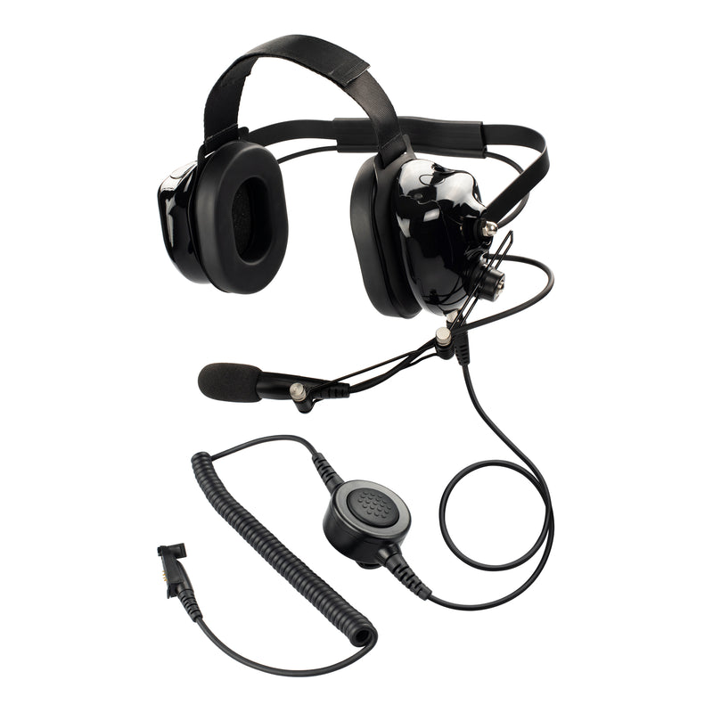 Maxtop AHDH0032-BK-M3 Noise Cancelling Headset for Motorola EX500 GP328Plus
