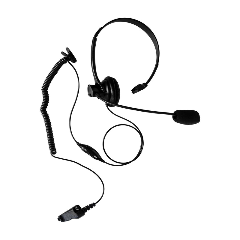 Maxtop AHDH1000-K3 Single Muff Headset for Kenwood NX-3200 NX-5200