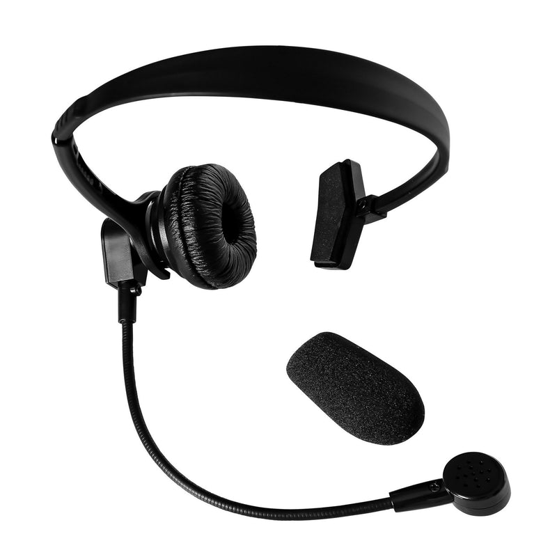 Maxtop AHDH1000-R3 Single Muff Headset for Relm RPV3000 RPU3600