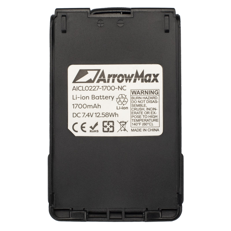 ArrowMax AICL0227-1700-D Li-ion Battery for ICOM  IC-E85  IC-F50