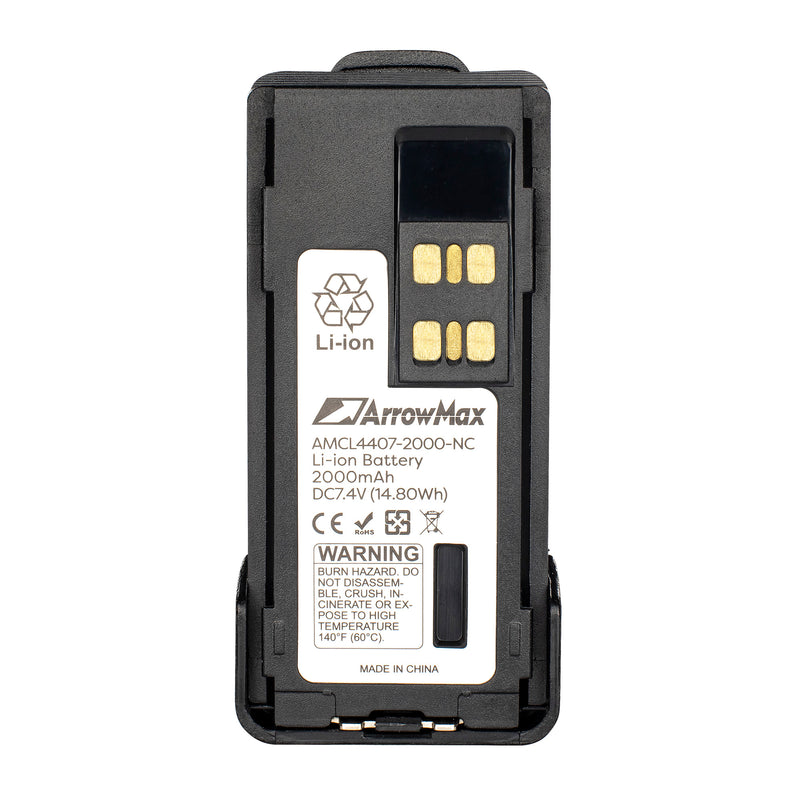 ArrowMax AMCL4407-2000-D Li-ion Battery for Motorola XPR7550 XPR7350