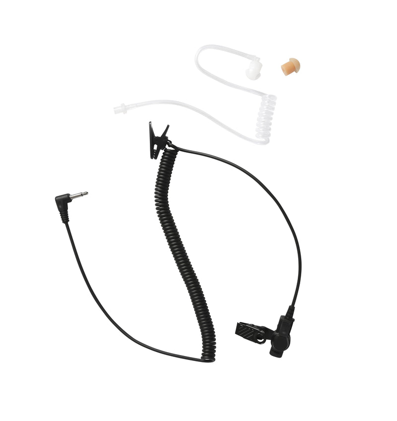 Maxtop ARP35-35L Clear Coil Acoustic Ear Tube Receiving Only Earphone with 3.5mm Plug for Speaker Microphone