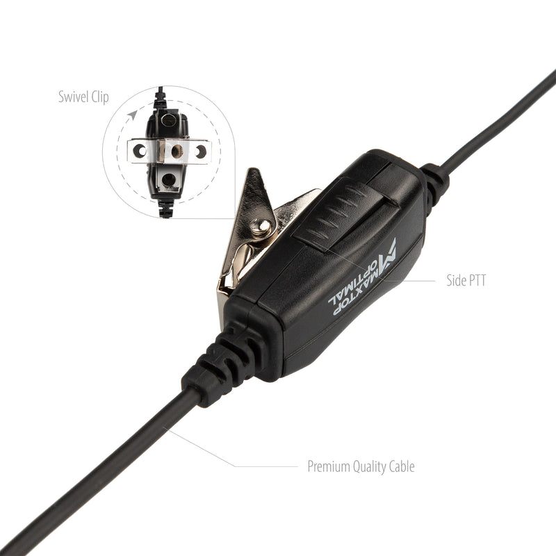 Maxtop Optimal ASK0425-K2B 1-Wire Surveillance Kit for Baofeng UV-5X3 UV-5R