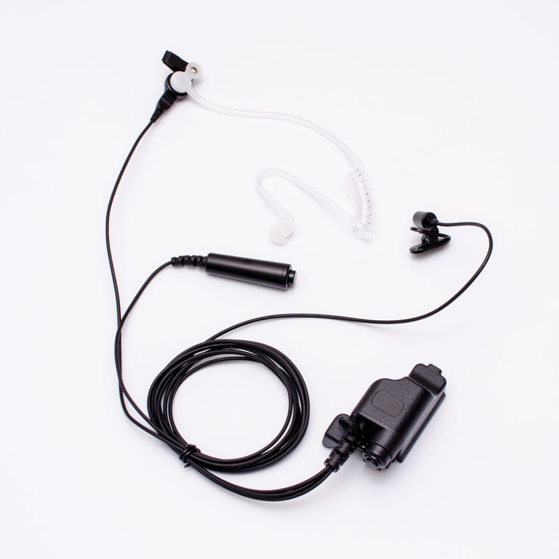 Maxtop ASK6038-E7 3-Wire Clear Coil Surveillance Kit Earphone for EF Johnson 5000 5100 7700 51SL 511X 512X 514X