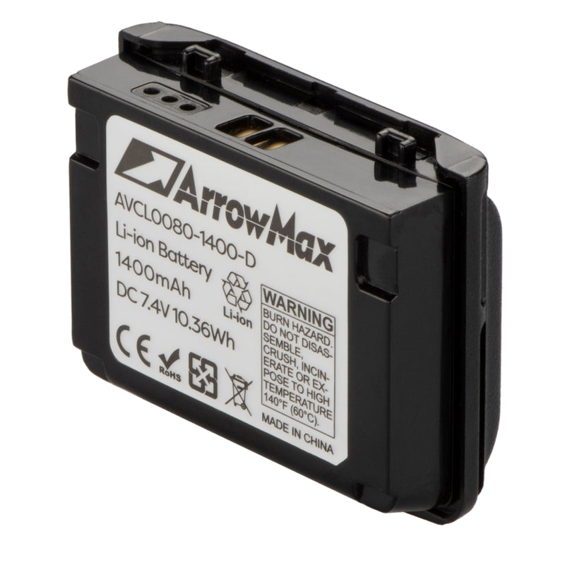 ArrowMax AVCL0080-1400-D Li-ion Battery for Vertex VX-5R VX-6R