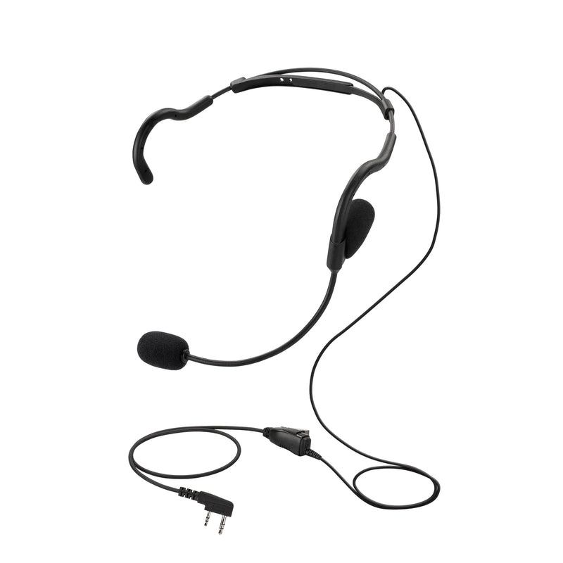 BOMMEOW BHDH01-K2 Ultra Light Single Ear Muff Headset for Kenwood NX-3320 TK-3230DX