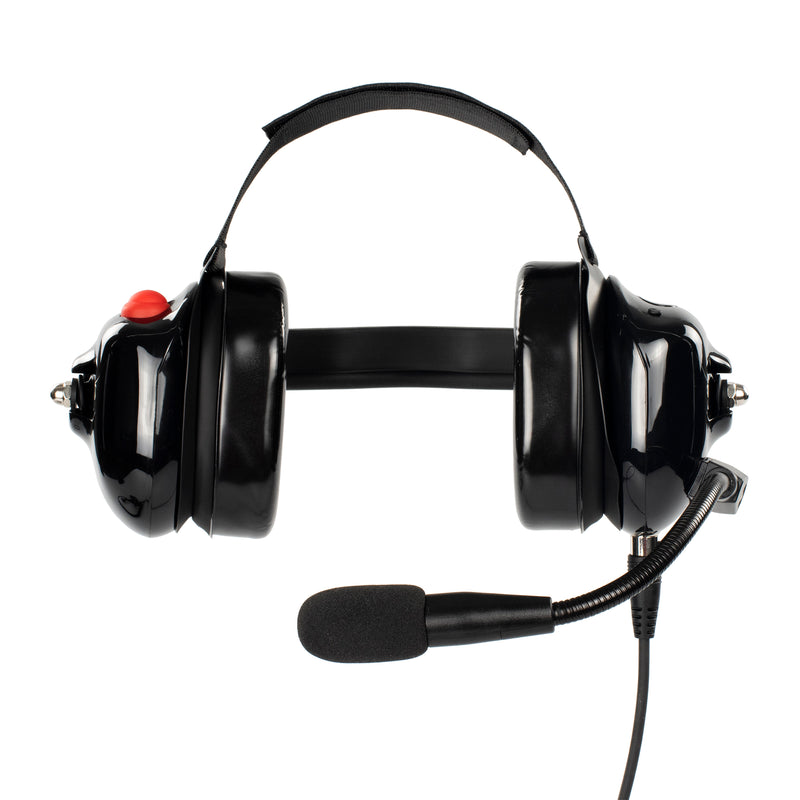 Bommeow BHDH40PTT-BK-I2 Noise Isolation Headphone for ICOM IC-F11 IC-F21