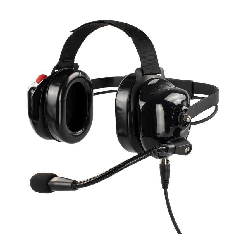 Bommeow BHDH40PTT-BK-K2 Noise Isolation Headphone for Kenwood NX-3320 TK-3230DX