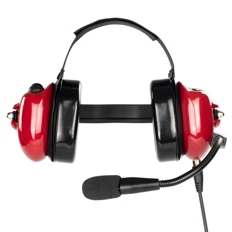 Bommeow BHDH40PTT-RD-I2 Noise Isolation Headphone for ICOM IC-F11 IC-F21