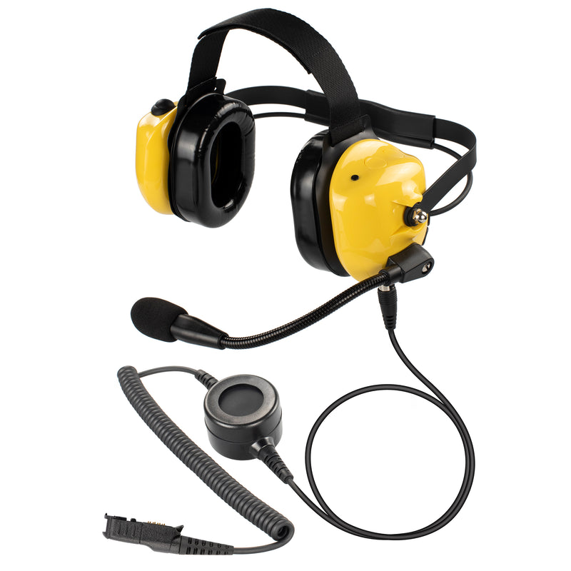 Bommeow BHDH40PTT-YW-AX Noise Isolation Headphone for Motorola XPR3300 XPR3500