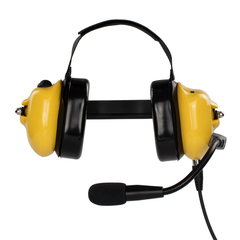 Bommeow BHDH40PTT-YW-I2 Noise Isolation Headphone for ICOM IC-F11 IC-F21